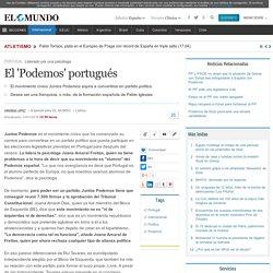 El 'Podemos' portugués