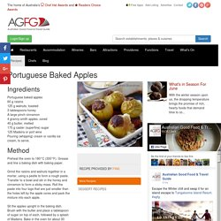 Portuguese Baked Apples Recipe