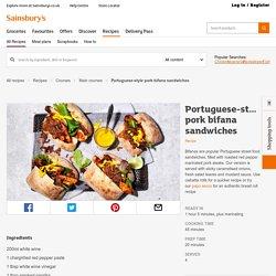 Portuguese-style pork bifana sandwiches