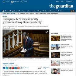 Portuguese MPs force minority government to quit over austerity