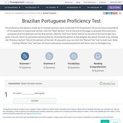 Brazilian Portuguese Proficiency Test