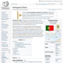 Portuguese Timor