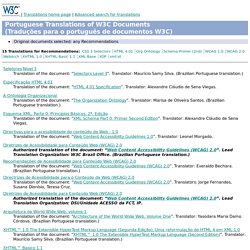 C - Portuguese Translations of W3C Documents