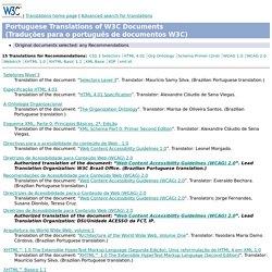 C - Portuguese Translations of W3C Documents