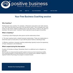 Free Business Coaching session