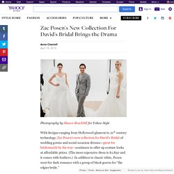 Zac Posen's New Collection For David's Bridal Brings the Drama