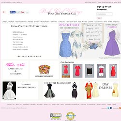 THE BEST Vintage Clothing Store Vintage Dresses & VINTAGE WEDDING DRESSES & 1950's prom dresses.