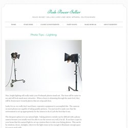 Poshmark Photo Tips - Lighting - Posh Power Seller