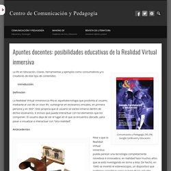 Apuntes docentes posibilidades educativas de la realidad virtual inmersiva