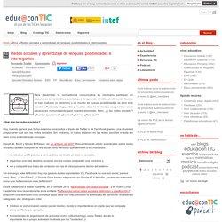 Redes sociales y aprendizaje de lenguas: posibilidades e interrogantes