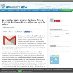 Ya es posible enviar archivos de Google Drive a través de Gmail como fichero adjunto en lugar de enlace