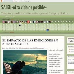 EL IMPACTO DE LAS EMOCIONES EN NUESTRA SALUD.