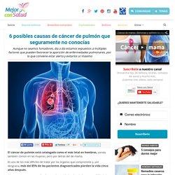 6 posibles causas de cáncer de pulmón que seguramente no conocías