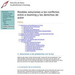 Posibles soluciones a los probleamas con los derechos de autor en el e-learning