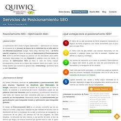 Servicios de Posicionamiento SEO - Optimización SEO