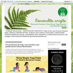 El Blog de Helecho Verde: Tres posiciones de Yoga, muy sencillas y que pueden aliviar Cólicos Menstruales