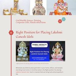 Right Position for Placing Lakshmi Ganesh Idols