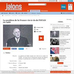 La position de la France vis-à-vis de l'OTAN en 1966