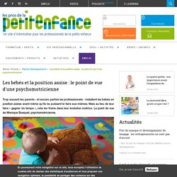 Les bébés et la position assise : le point de vue d'une psychomotricienne