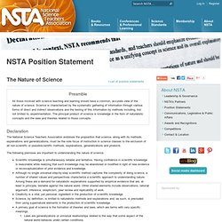 Position Statement: The Nature of Science