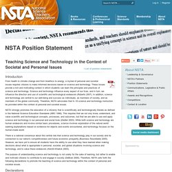 Teaching Science and Technology in the Context of Societal and Personal Issues