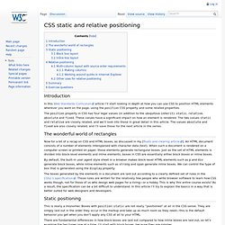 CSS positionnement statique et relative - Éducation Web Community Group
