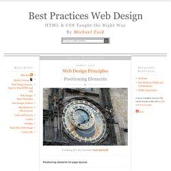 Positioning Elements » Best Practices Web Design