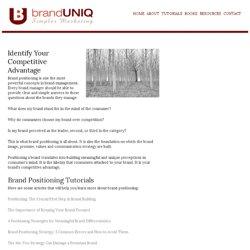 Brand Positioning • Brand Management : BrandUniq