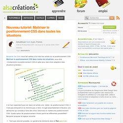 Nouveau tutoriel: Maîtriser le positionnement CSS dans toutes les situations