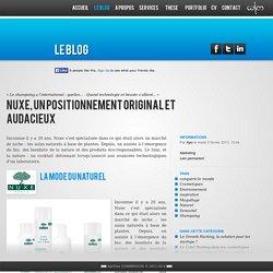 Nuxe, un positionnement original et audacieux - Apolline COMBRISSON