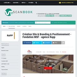 Création Site & Branding & Positionnement - Fondation MSF - agence Rapp