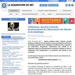 Chiffrement, sécurité et libertés, positionnement de l'Observatoire des libertés et du Numérique