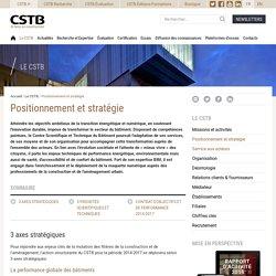 Positionnement et stratégie - CSTB
