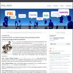 Positionner la PNL sur la ligne du temps de la psychologie moderne