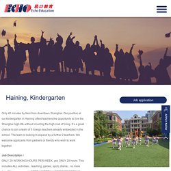 JOB POSITIONS - Teach in China - Teach Abroad - TEFL/TESL/TESOL Jobs in China by Echo Education
