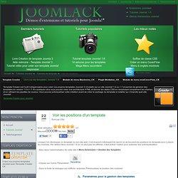 Voir les positions - Tutoriels Joomla! 1.6 - Tutoriels Joomlack pour menu, template et mootools dans Joomla! 1.6