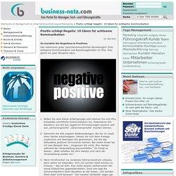 Positiv schlägt Negativ: 10 Ideen für achtsame Kommunikation