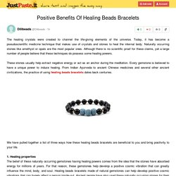 Positive Benefits Of Healing Beads Bracelets