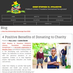4 Positive Benefits of Donating to Charity