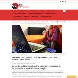 The positive connection between games and online learning
