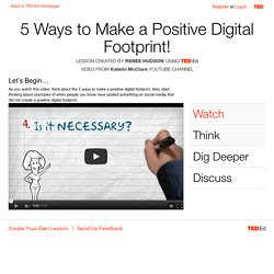 5 Ways to Make a Positive Digital Footprint!