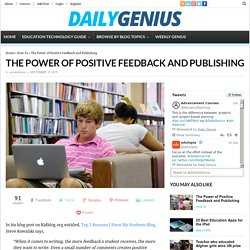 The Power of Positive Feedback and Publishing