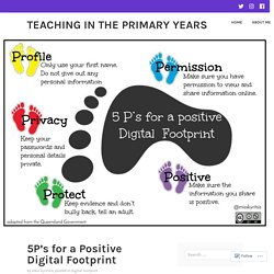 5P's for a Positive Digital Footprint