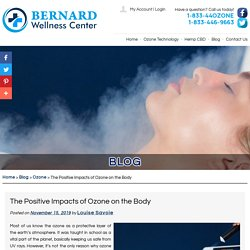 The Positive Impacts of Ozone on the Body
