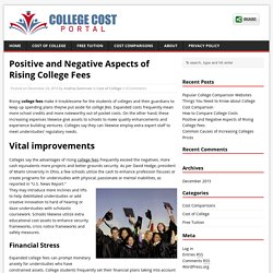 Positive and Negative Aspects of Rising College Fees
