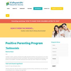 Positive Parenting Program Mumbai India