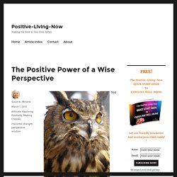 The Positive Power of a Wise Perspective - Positive-Living-Now