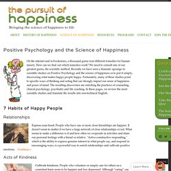Science of Happiness - 7 Habits of Happy People