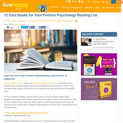 12 Core Books for Your Positive Psychology Reading List