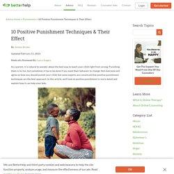 10 Positive Punishment Techniques & Their Effect